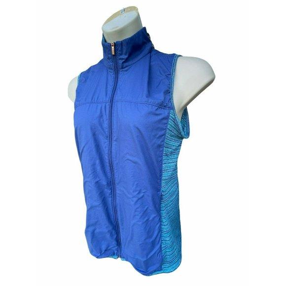 Adidas Womens Technical Wind Breaker Vest L BLUE